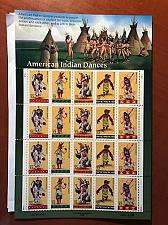 Buy USA United States Indian Dances mnh sheet 1996 stamps