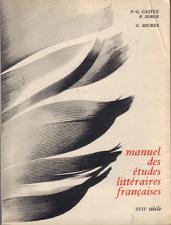 Buy Manuel des études littéraires françaises :: Completely in French