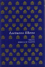 Buy Lectures Libres :: Rebecca Valette :: French Study Book