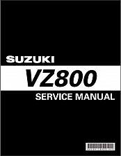 Buy 2005-2009 Suzuki VZ800 Marauder 800 Service Manual on a CD