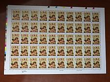 Buy USA United States Love 32c sheet mnh 1995