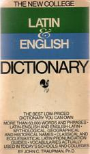 Buy THE NEW COLLEGE LATIN & ENGLISH DICTIONARY :: 1981 :: FREE Shipping