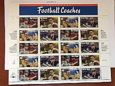 Buy USA United States Legendary Football Coaches sheet mnh 1997 stamps
