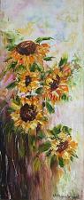 Buy Sunflowers Original Oil Painting Still Life Impasto Palette Knife Art Yellow