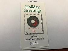 Buy USA United States Holiday greetings booklet mnh 1996