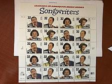 Buy USA United States Songwriters sheet mnh 1996 stamps