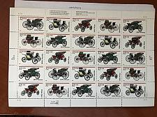 Buy USA United States Antique Autos sheet mnh 1995 stamps