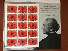 Buy USA United States Georgia O'Keeffe sheet mnh 1995 stamps