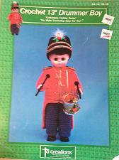 "Buy Crochet 13"" Drummer Boy crochet pattern booklet"