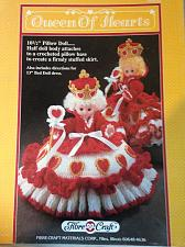 "Buy Crochet Queen Of Hearts 10 1/2"" Pillow Doll"