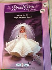"Buy Bridal Gown to crochet for 13"" bed or music box doll"