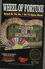 Buy Wheel of Fortune (Nintendo Entertainment System (NES), 1988 Authentic Nintendo Game