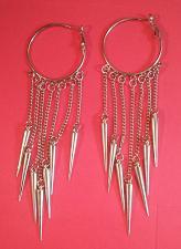 Buy Earrings, Silver Hoop (Hoops lever back post large wide lightweight)