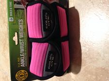 Buy Set of two : 1.5 lb each pink & grey (reversible) ankle or wrist weights