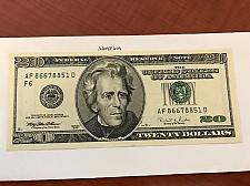 Buy USA United States $20.00 banknote uncirculated Year 1996 #3
