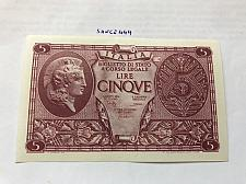 Buy Italy uncirculated banknote 5 lira a