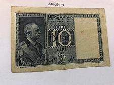 Buy Italy circulated banknote 10 lira a