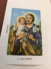 Buy Italy S. Giuseppe figurine card