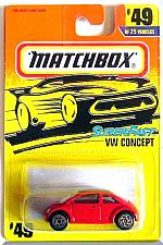 Buy Matchbox - VW Concept: 1-75 Series #49/75 (1996) *Red Edition / SuperFast*