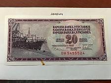 Buy Yugoslavia 20 dinara uncirc. banknote 1978