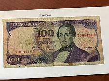 Buy Colombia 100 pesos oro circulated banknote 1977