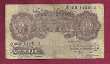 Buy GREAT BRITAIN 10 Shillings 1940-48 (ND) Banknote 115813 - BANK OF ENGLAND - WWII