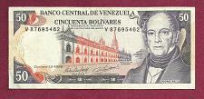 Buy Venezuela 50 Bolivares 1995 (ND) Banknote V 87695462