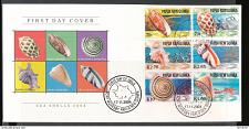 Buy Papua New Guinea 1148-1153 2004 Marine Sea Shell Wildlife day issue cancel creasing