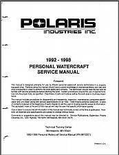 Buy 1992-1998 Polaris Personal Watercraft ( SL SLT SLX SLTX SLH ) Service Manual CD