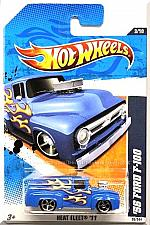 Buy Hot Wheels - '56 Ford F-100: Heat Fleet '11 #3/10 - #93/244 *Blue Edition*