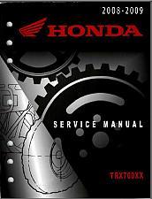 Buy 2008-2009 Honda TRX700XX Service Repair Shop Manual on a CD - TRX 700