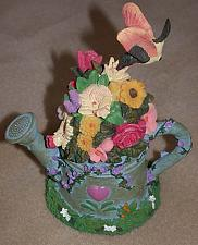 Buy Watering Can Music Box with Flower Bouquet