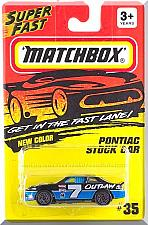 Buy Matchbox - Pontiac Stock Car: MBX 1-75 Series #35 (1995) *Black Edition*