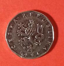 Buy Czech Republick 2 Korun 1994 Coin - Crowned Czech Lion