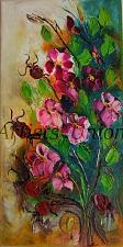 Buy Wild Roses Original Oil Painting Pink Flowers Still Life Impasto Palette Knife Art