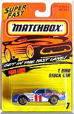 Buy Matchbox - T Bird Stock Car: MBX 1-75 Series #7 (1996) *Blue Edition*