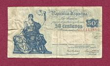 Buy ARGENTINA 50 Centavos ND (1942-48) Banknote 08,644,388C -Art 36 Ley 12,155, 2nd Issue
