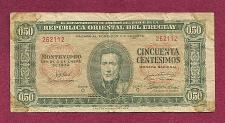 Buy URAGUAY 50 Centesimos 1939 Banknote 262112, #P34 - J.G. Artigas