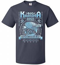 Buy Big Kahuna Burger Adult Unisex T-Shirt Pop Culture Graphic Tee (2XL/J Navy) Humor Fun
