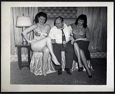 Buy BETTY PAGE WITH IRVING KLAW AND ROZ GREENWOOD VINTAGE IRVING KLAW 4X5 BP-356 RARE