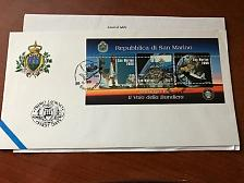 Buy San Marino Flag in space FDC 1998