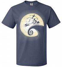 Buy Nightmare Before Grinchmas Unisex T-Shirt Pop Culture Graphic Tee (L/Denim) Humor Fun