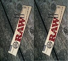 """Buy TWO Packs! RAW CLASSIC FOOT LONG 12"""" Length UNBLEACHED Cigarette Rolling Papers"""