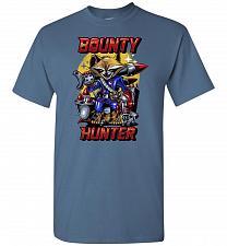 Buy Bounty Hunter Rocket Raccoon Unisex T-Shirt Pop Culture Graphic Tee (S/Indigo Blue) H