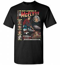 Buy Heavy Adventures Of McFly! Unisex T-Shirt Pop Culture Graphic Tee (S/Black) Humor Fun