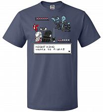 Buy Throne Battle 2 Unisex T-Shirt Pop Culture Graphic Tee (XL/Denim) Humor Funny Nerdy G