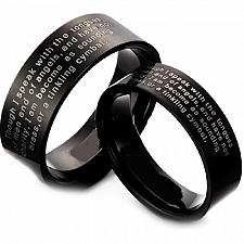 Buy coi Jewelry Black Tungsten Carbide Ring With Custom Engraving