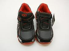 Buy Athletic Works Boys Size 3 Black Red Athletic Bubble Shoe Hook & Loop Fasteners