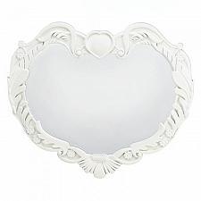 Buy *17057U - Angel Heart White Wood Hanging Wall Mirror