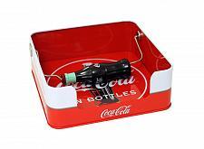 Buy :10838U - Coca-Cola Bottle Handle Square Tin Napkin Holder